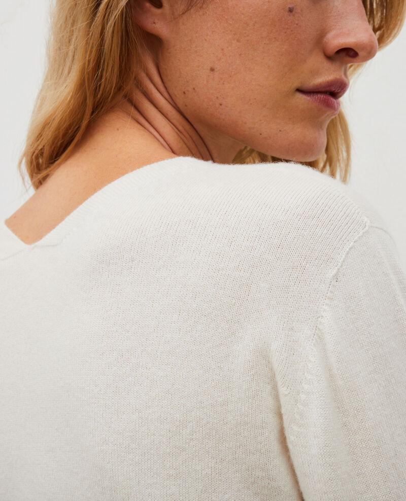 Jersey fino de cachemir 3D con cuello de pico Jet stream Manona