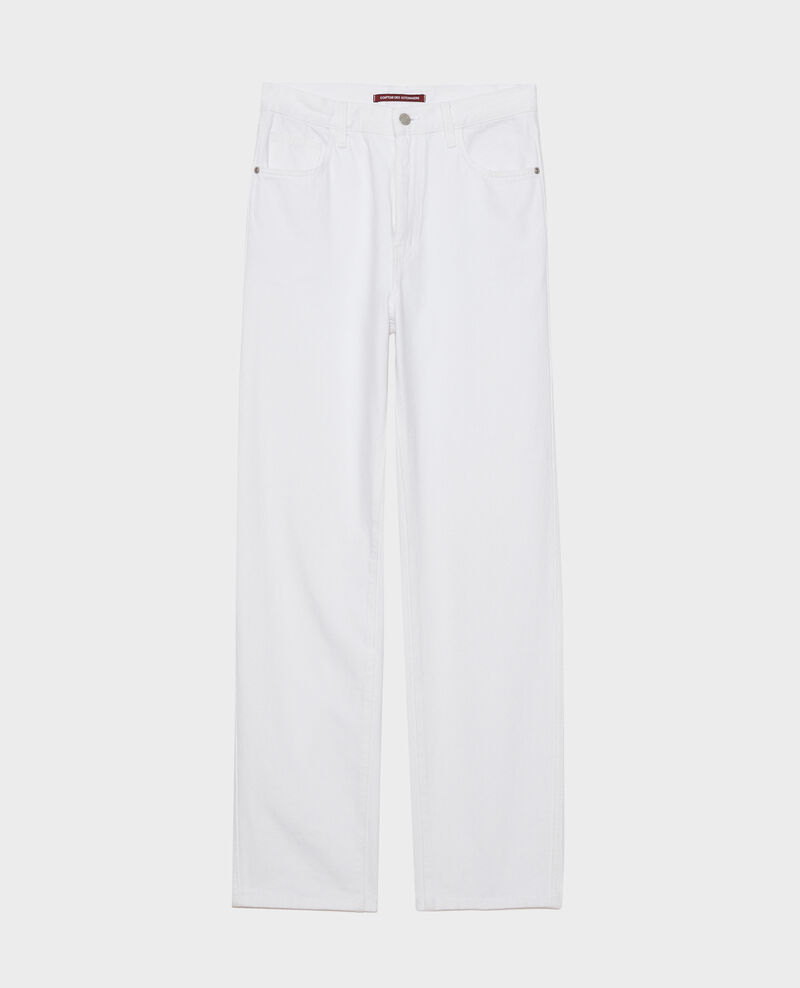 REGULAR - Jeans blancos de talle alto Optical white Napur