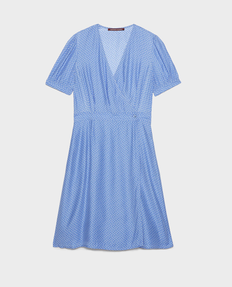 Vestido de seda cruzado Memphis persian jewel Leanie