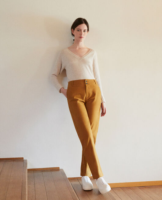 Pantalones chinos GOLDEN BROWN