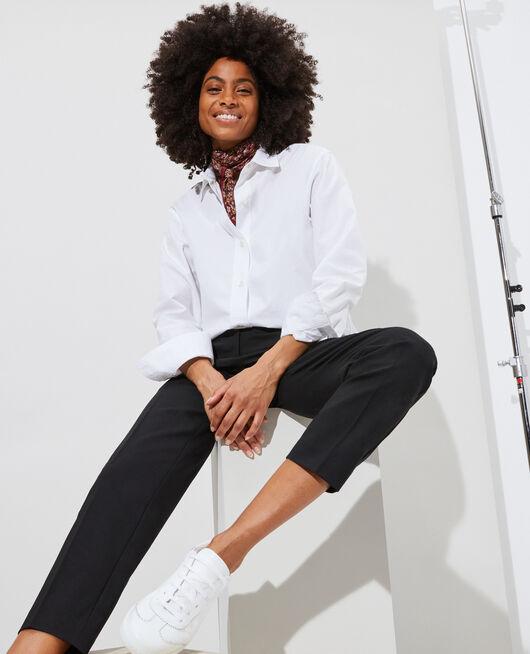 Camisa clásica de popelina OPTICAL WHITE