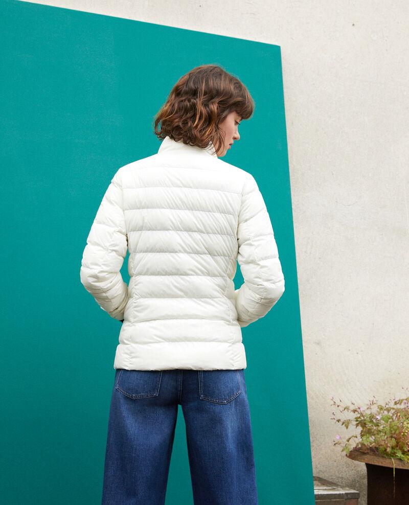 Plumas ultraligero con cuello alto Blanco Fuldown