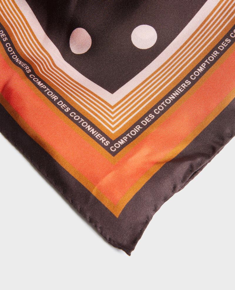 Foulard cuadrado de seda con lunares Black coffee Nois