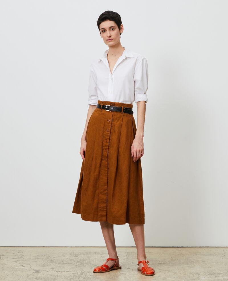 Falda midi de lino Monks robe Lorlange
