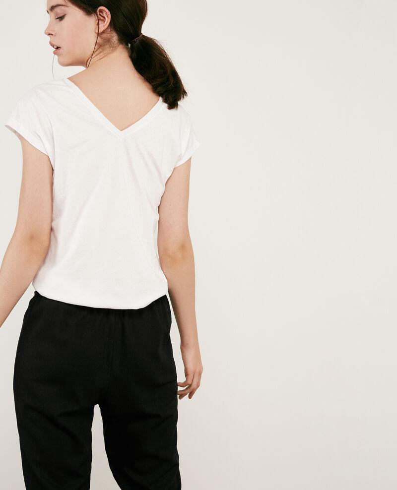 Camiseta con detalles de lúrex Off white 9dactylo