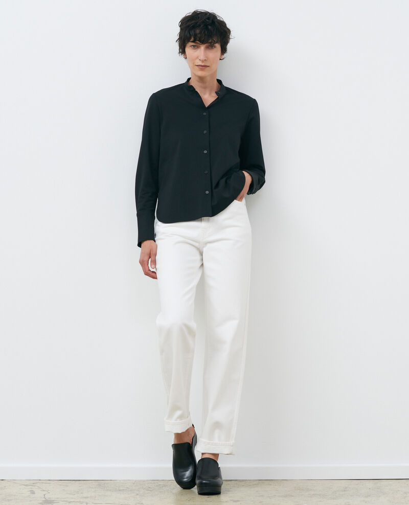 Camisa cuello mao Black beauty Piblange