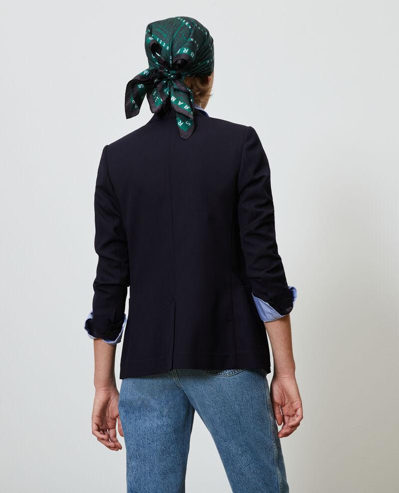 Blazer de lana masculino entallado Night sky Mesanger