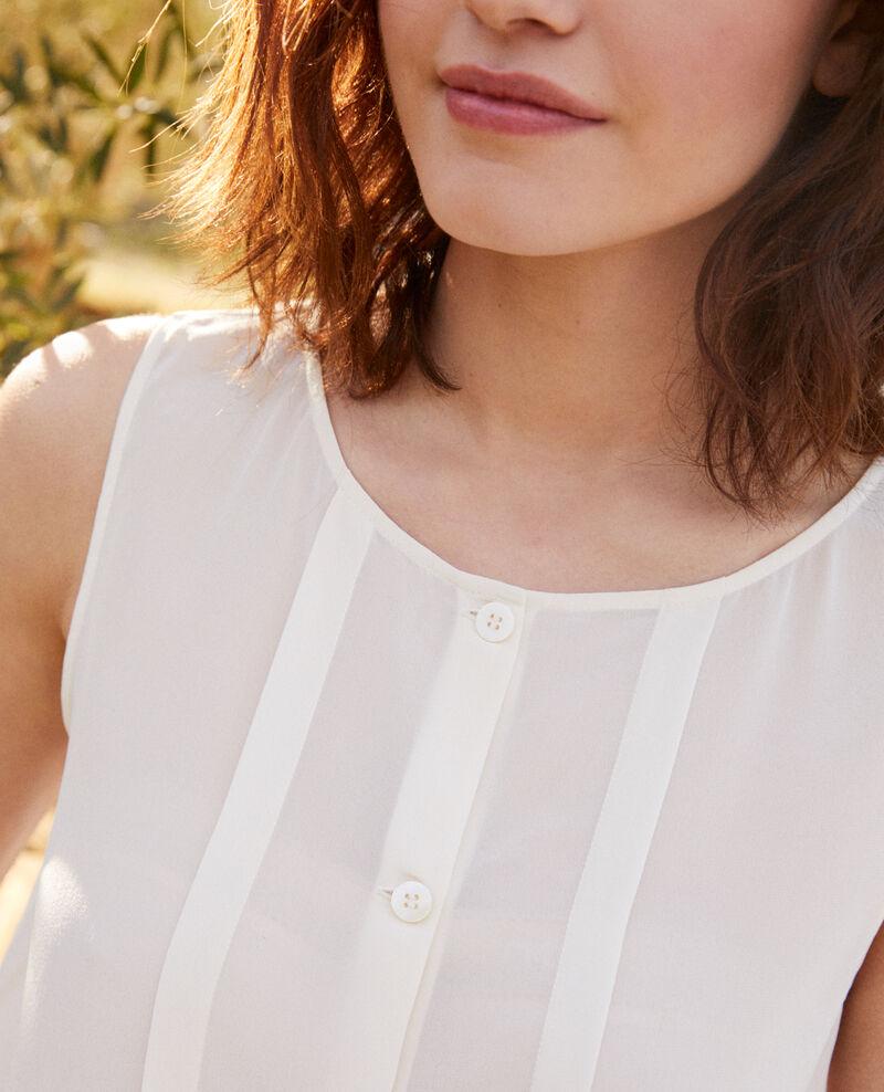 Camiseta de seda sin mangas Off white Icon