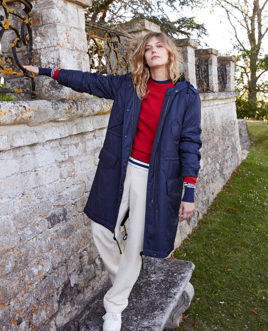 Parka con capucha EVENING BLUE