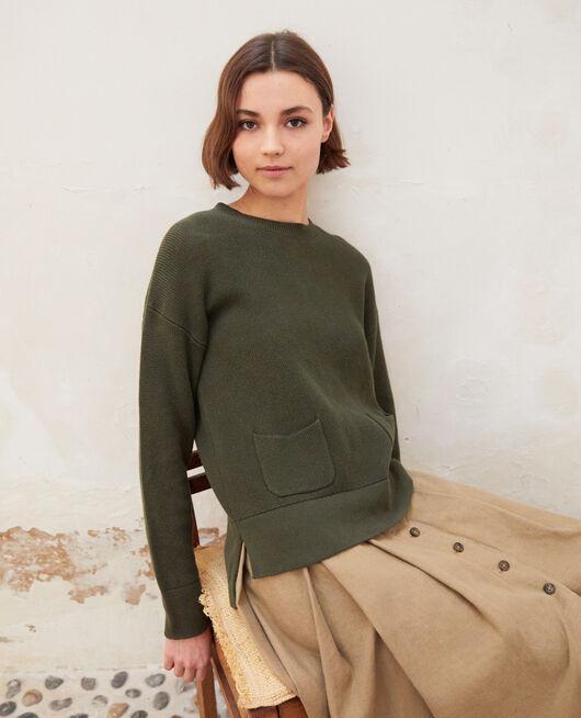 Jersey de cuello redondo OLIVE GREEN