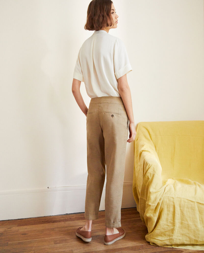 Pantalón con lino Natural beige Inouri