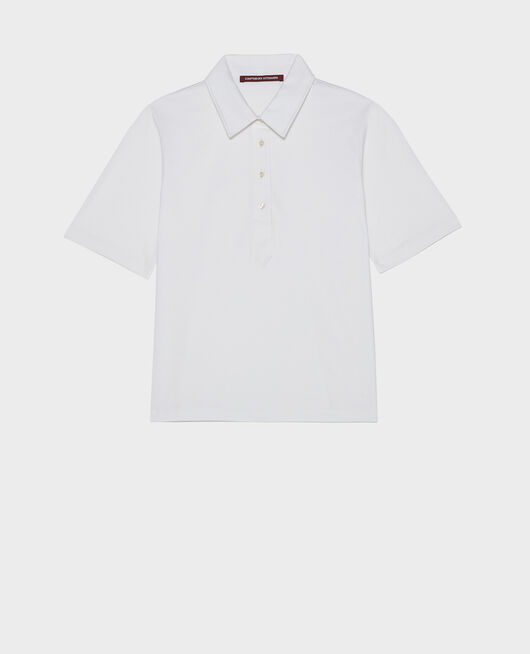 Polo de algodón OPTICAL WHITE