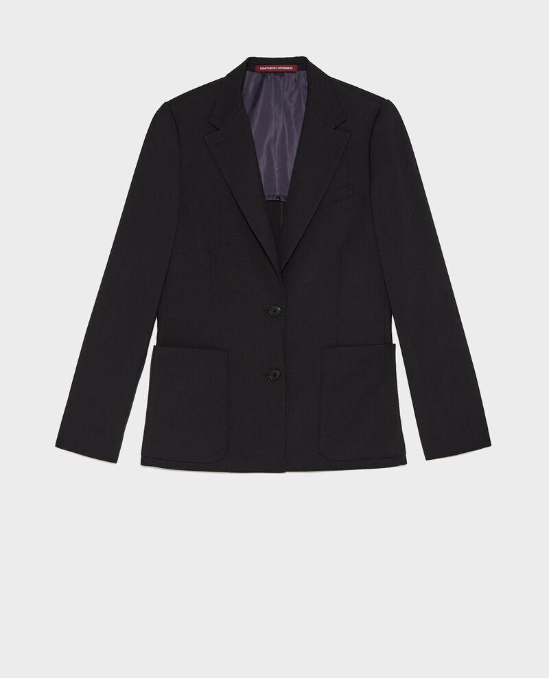 Blazer de lana masculino entallado Black beauty Mesanger