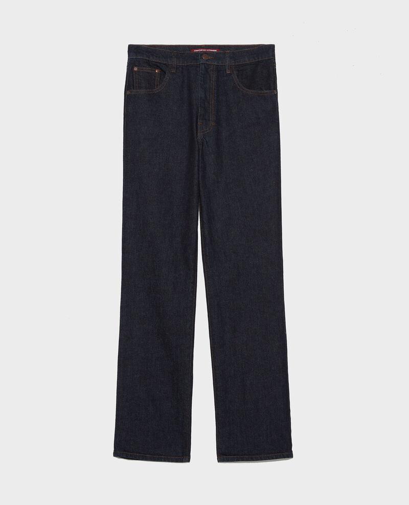 Jeans rectos en denim bruto Denim rinse Linnea
