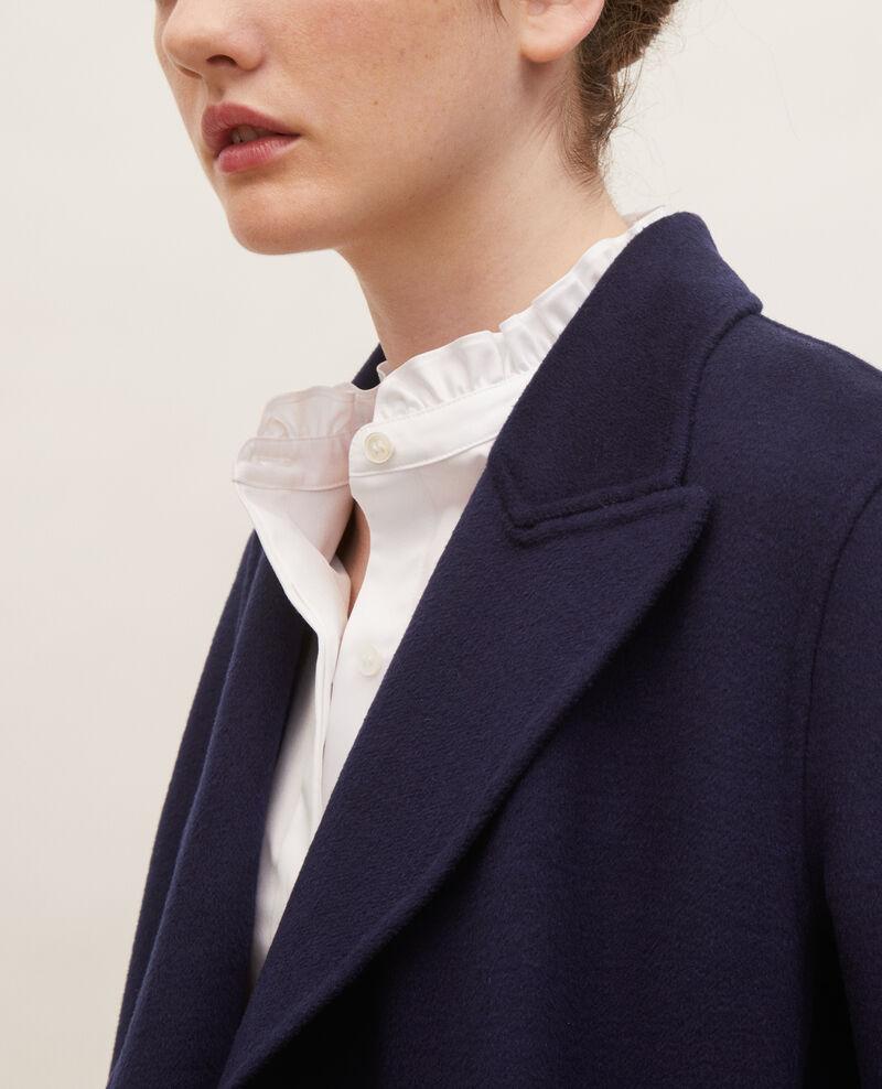 Abrigo tipo chaquetón de lana doble cara Maritime blue Lintot