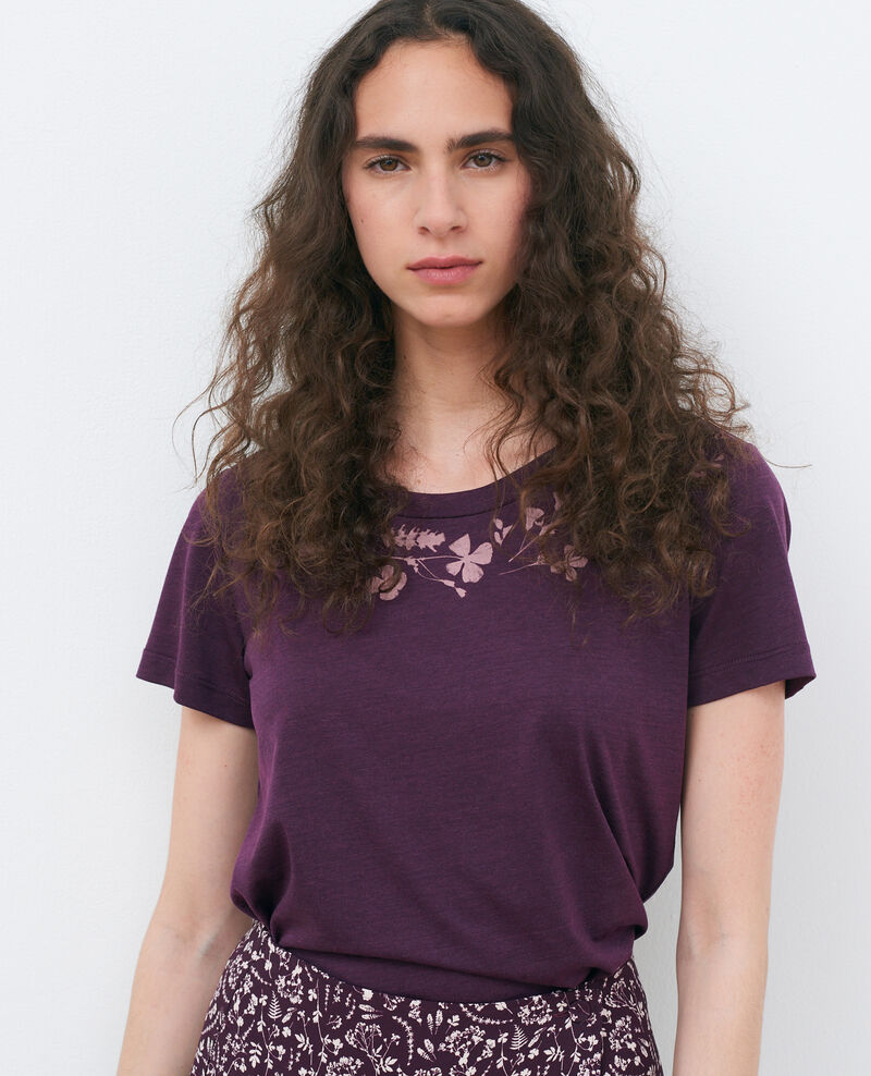Camiseta fluida con cuello redondo Potent purple Preaux