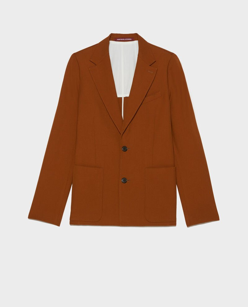 Blazer ligero de lana lisa Monks robe Luscade