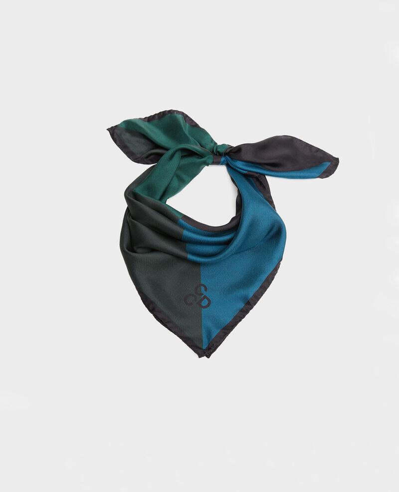 Foulard cuadrado de seda multicolor Scarab Massana
