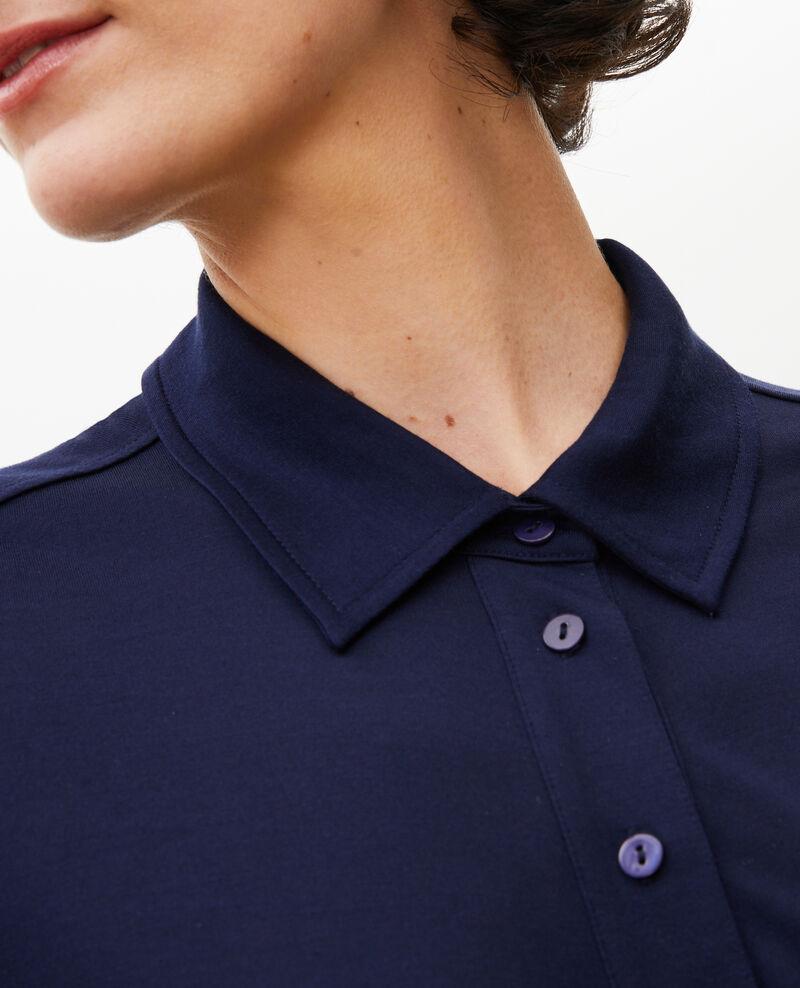 Camisa de punto jersey de seda Maritime blue Leanor