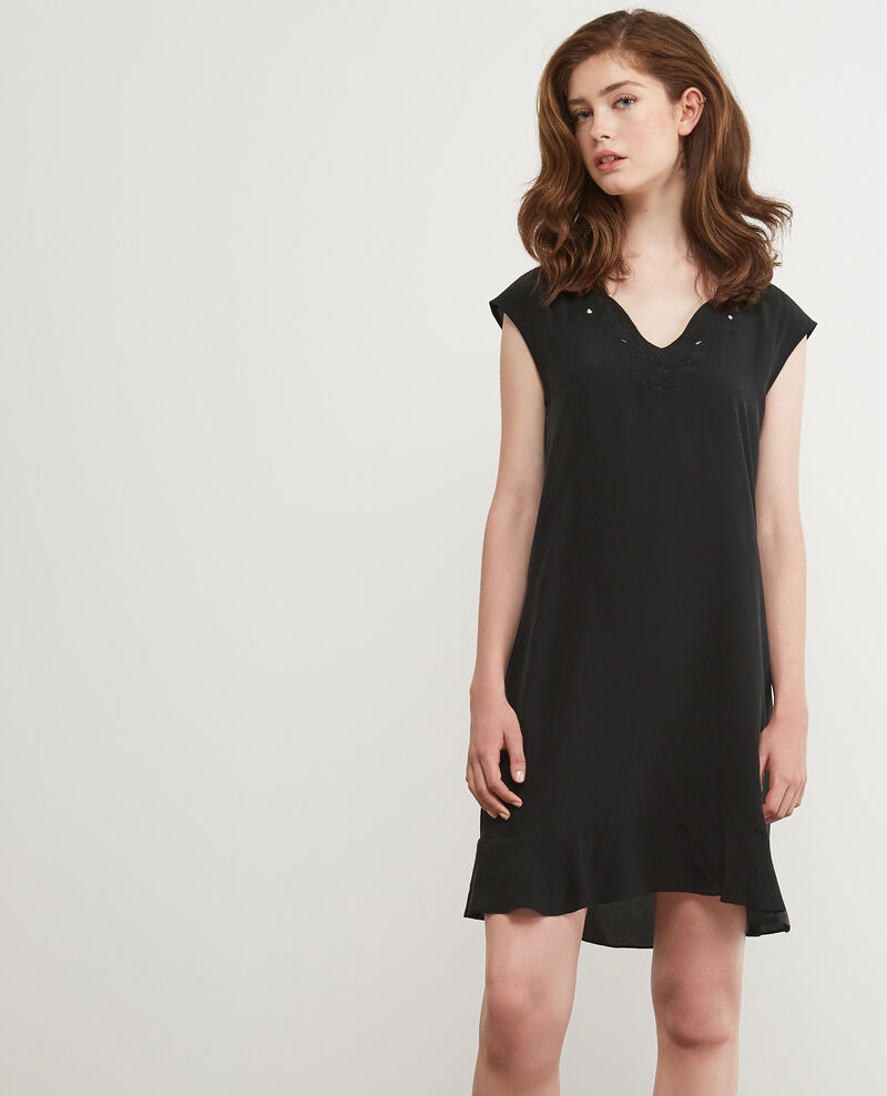 Vestido de seda Noir Dalienor