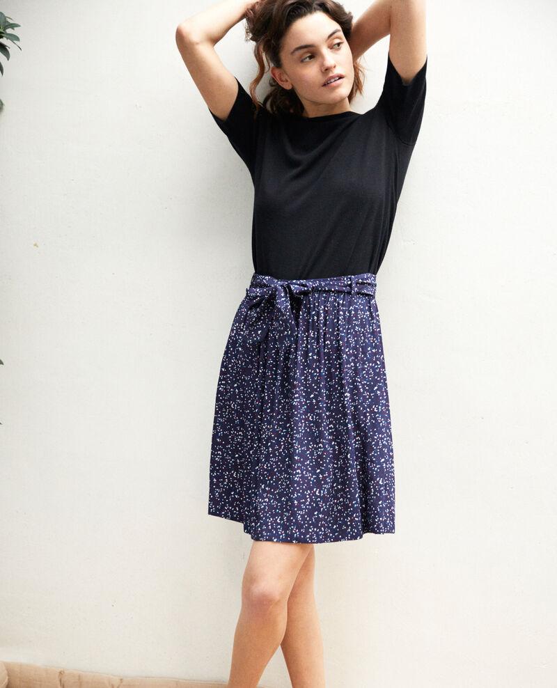 Jupe imprimée avec nœud Confetti ink navy Ikeni