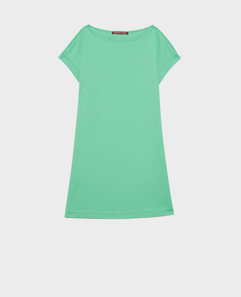 Vestido corto de algodón bío Jade cream Neuillaco