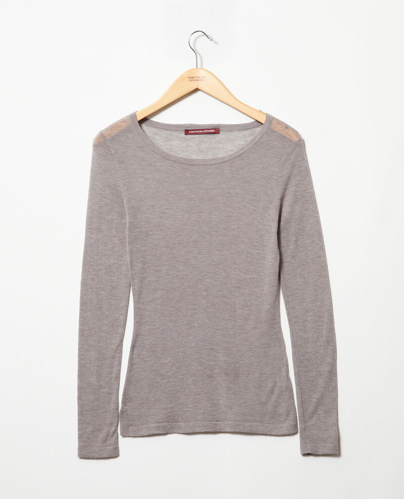 Jersey de lana con cuello redondo Heather light grey Idouard
