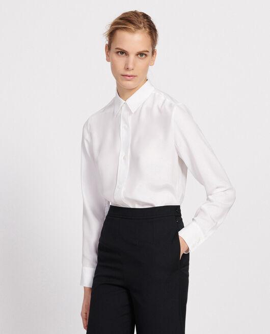 Camisa de seda OPTICAL WHITE