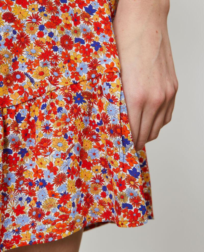 Falda corta estampada Garden royalblue Nodale