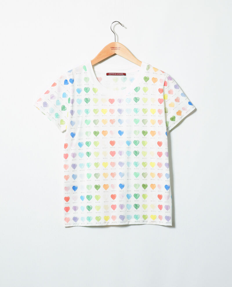 Camiseta estampado de corazón Off white Ilover