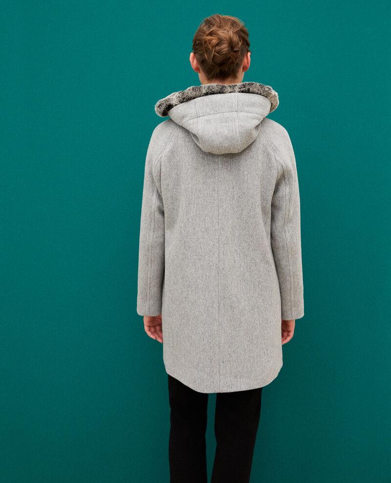 Abrigo con capucha Light heather grey Gustin