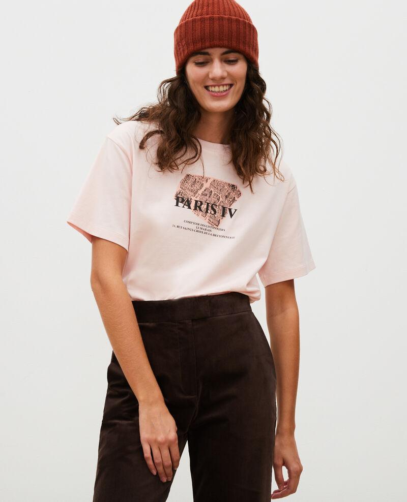 Camiseta de algodón manga corta Seashell pink Mariette
