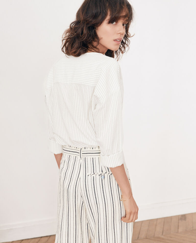 Camisa rayada Off white/navy stripes Falaise