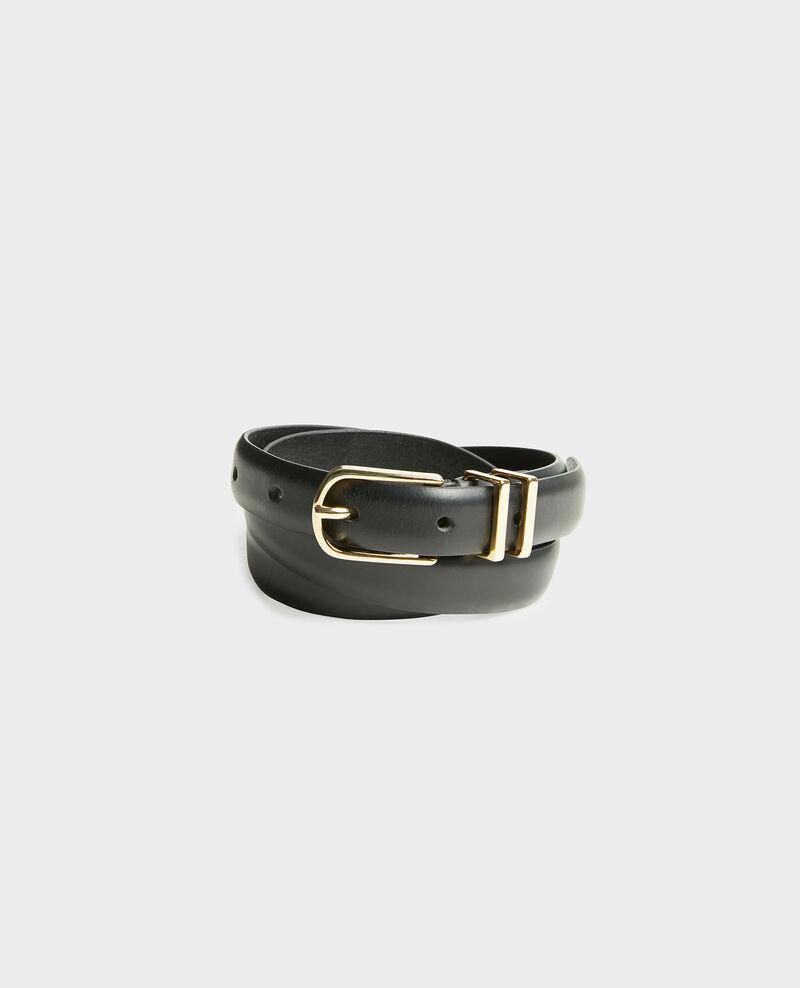 Cinturón de cuero Black beauty Mendite