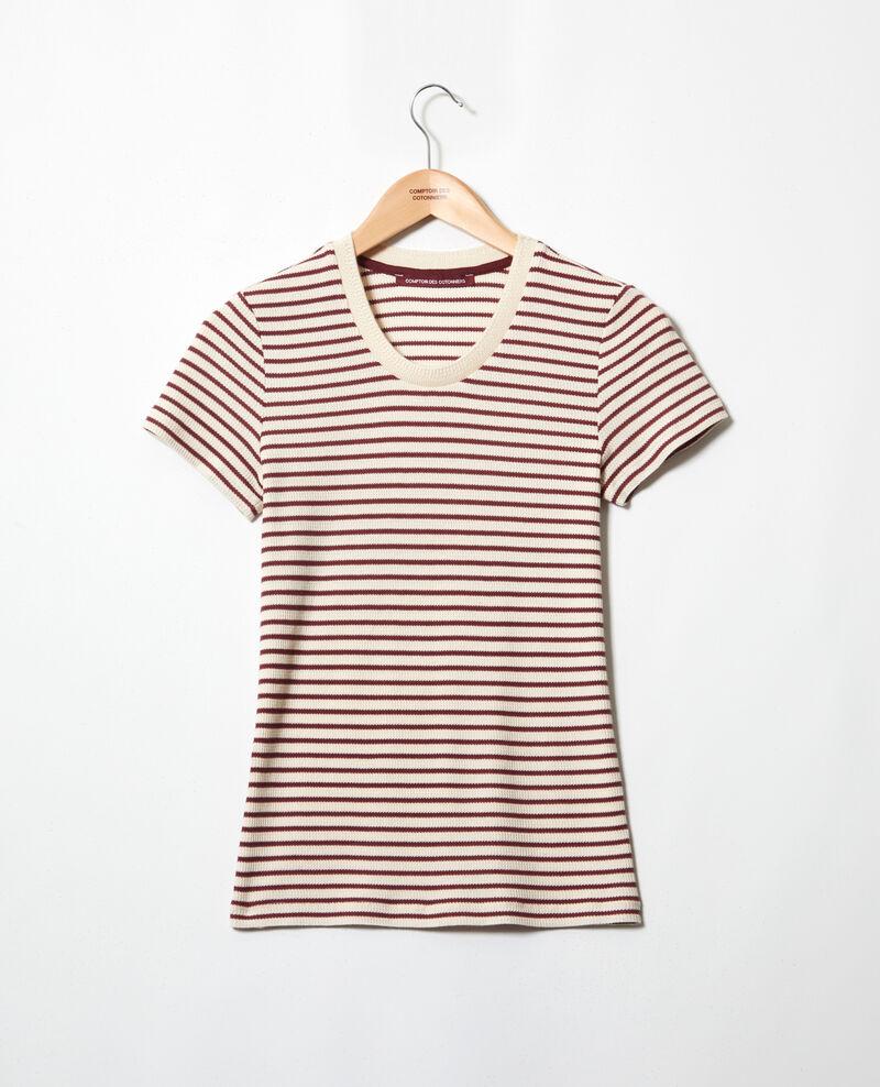 Camiseta de rayas Beige/red Ivea