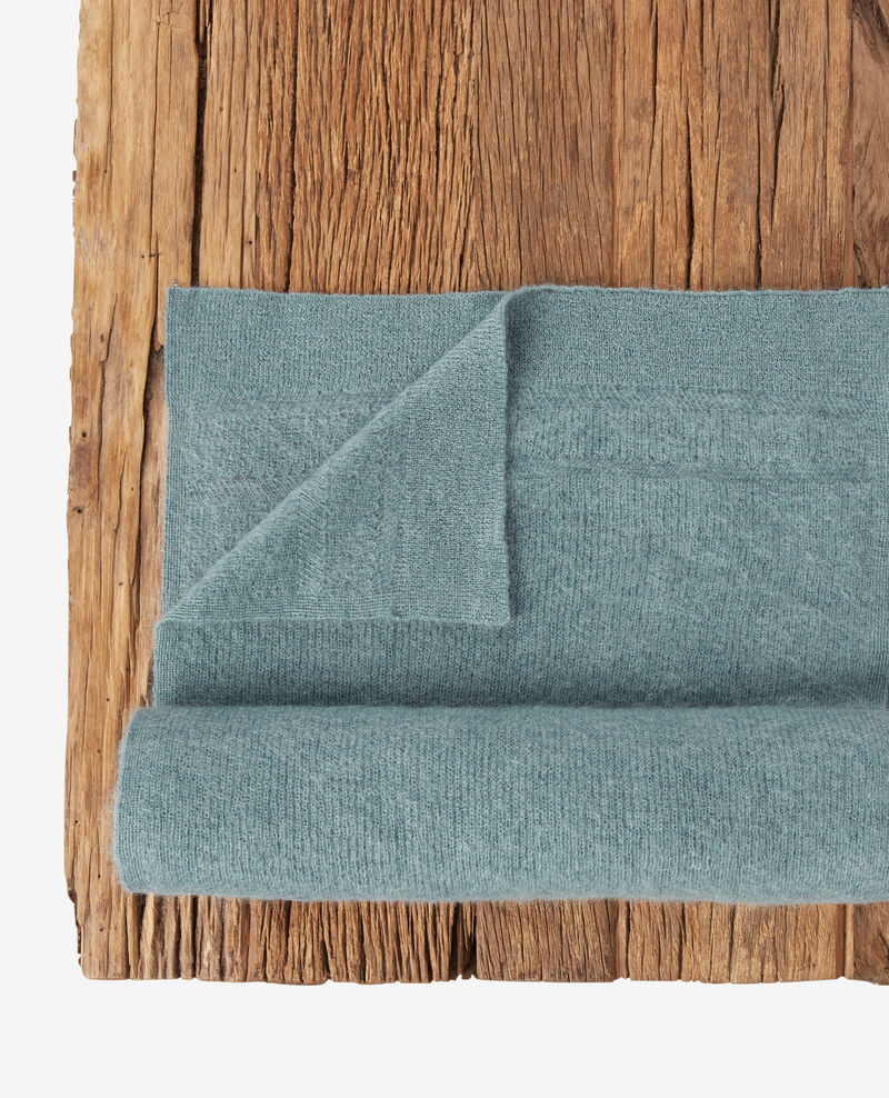 Bufanda con mohair y lana Dark celadon Frileux
