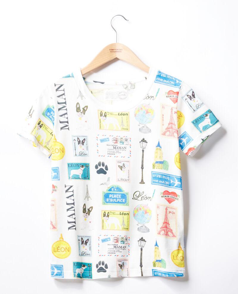 Camiseta Léon y París Off white Fivoli