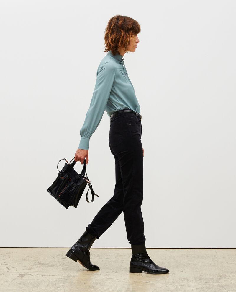 SLIM STRAIGHT - Jeans rectos de terciopelo liso 5 bolsillos Night sky Muillemin