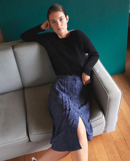 Falda estampada Azul