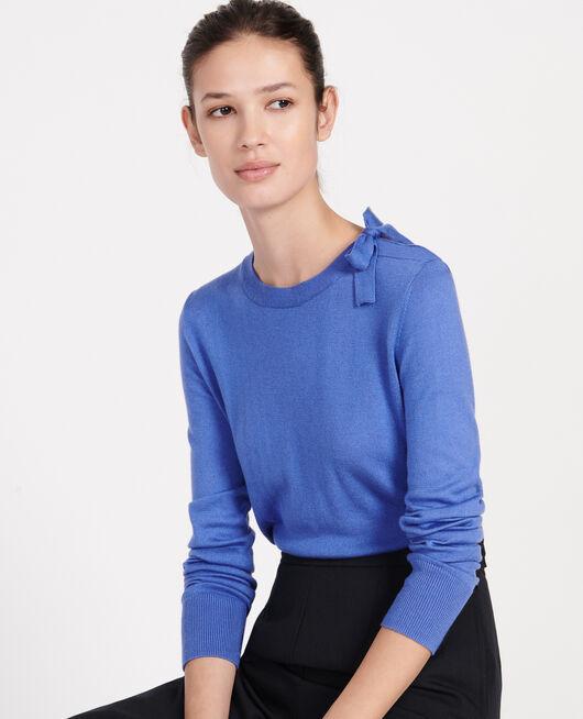 Jersey con seda y cachemir AMPARO BLUE