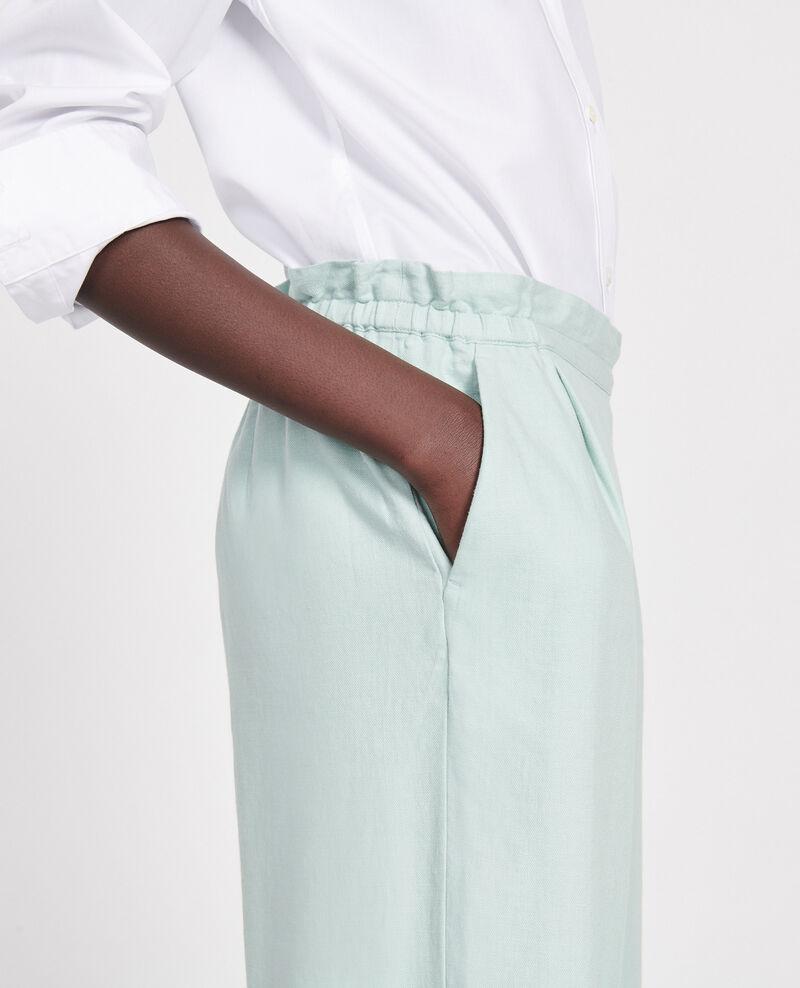 Pantalón con lino y algodón Blue haze Loranki