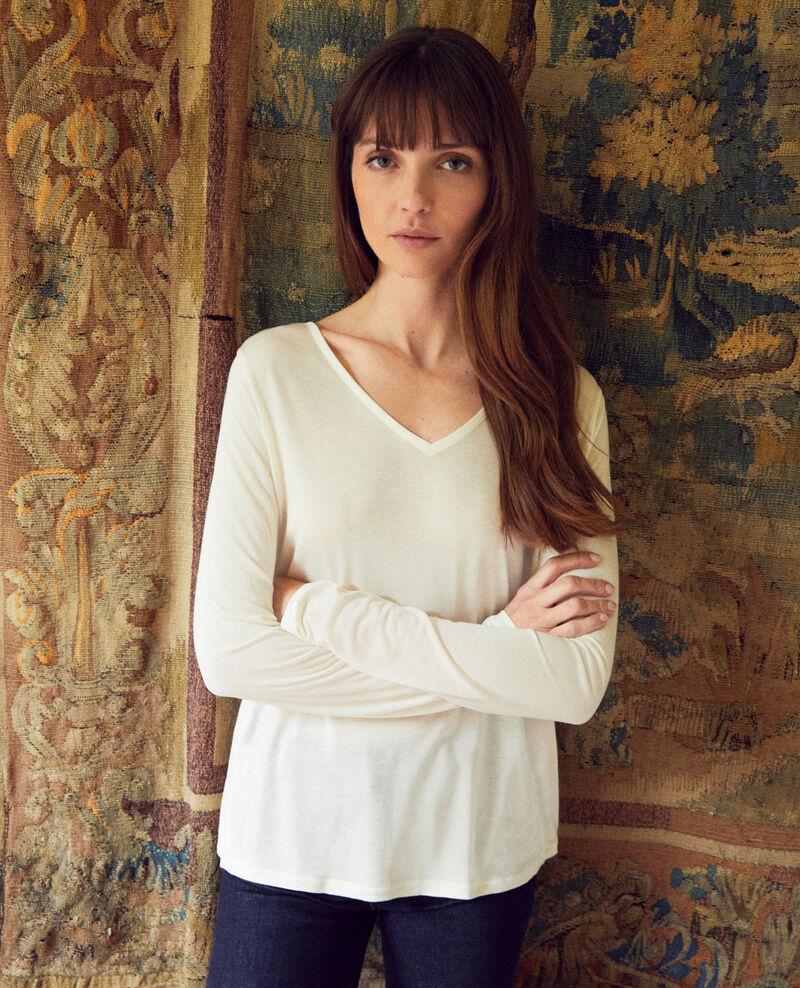 Camiseta de dos materiales Off white Janga