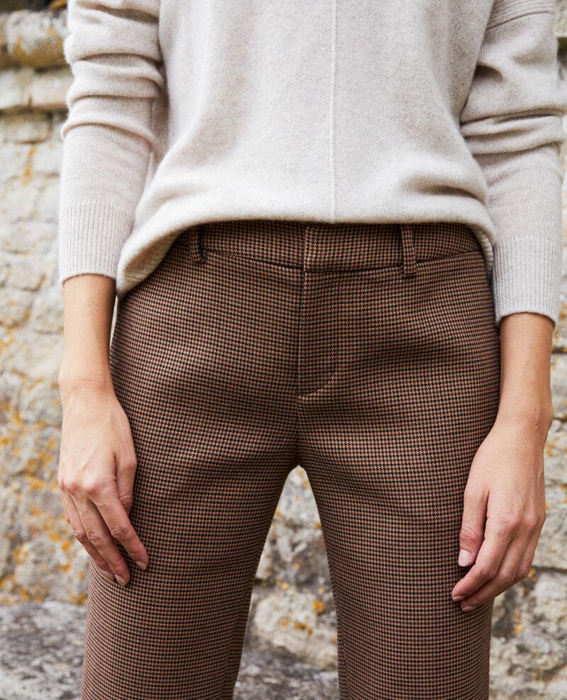 Pantalón de corte recto Houndtooth Jillica