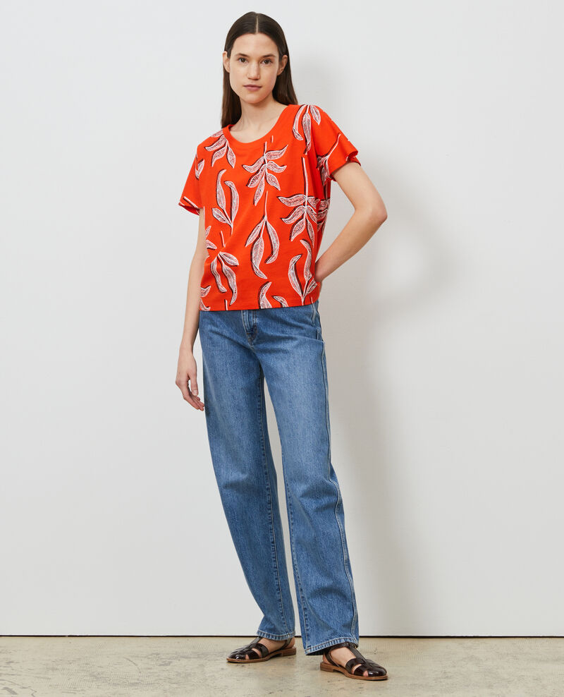 Camiseta de algodón con cuello redondo Prt bot spicy Nimeric