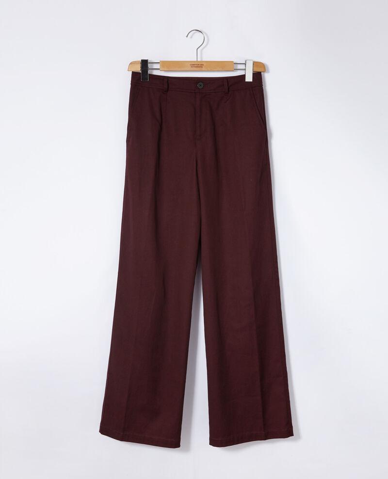 Pantalón de corte amplio Marrón Gabin