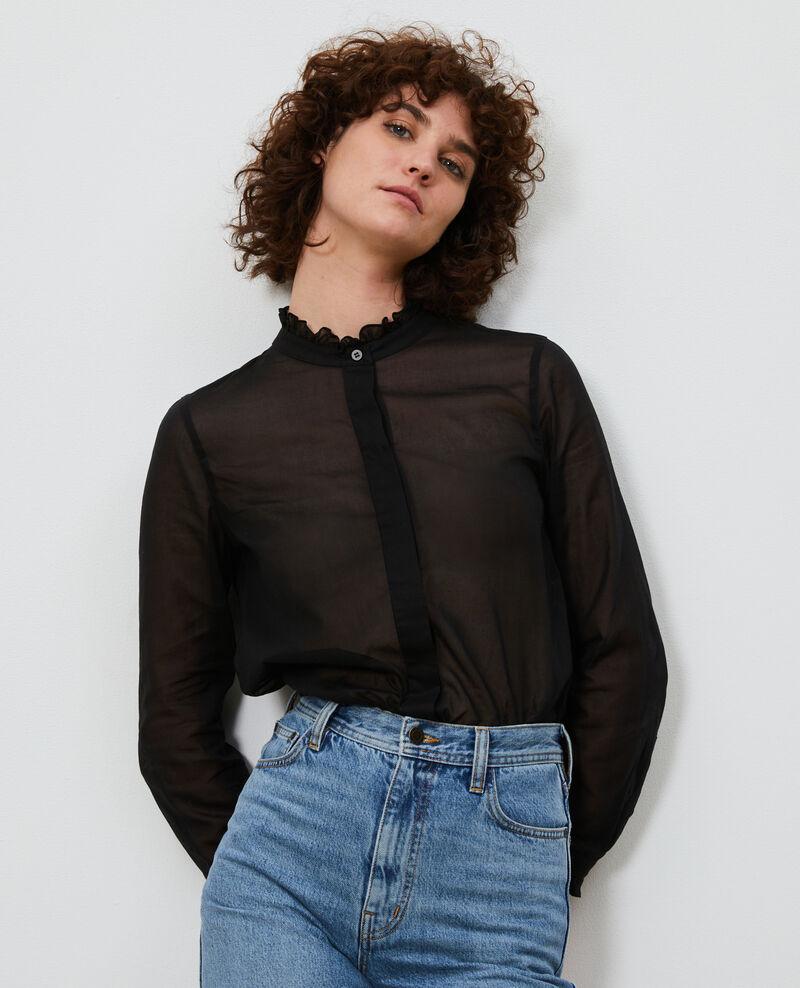 Camisa con cuello de volantes Black beauty Nacelle