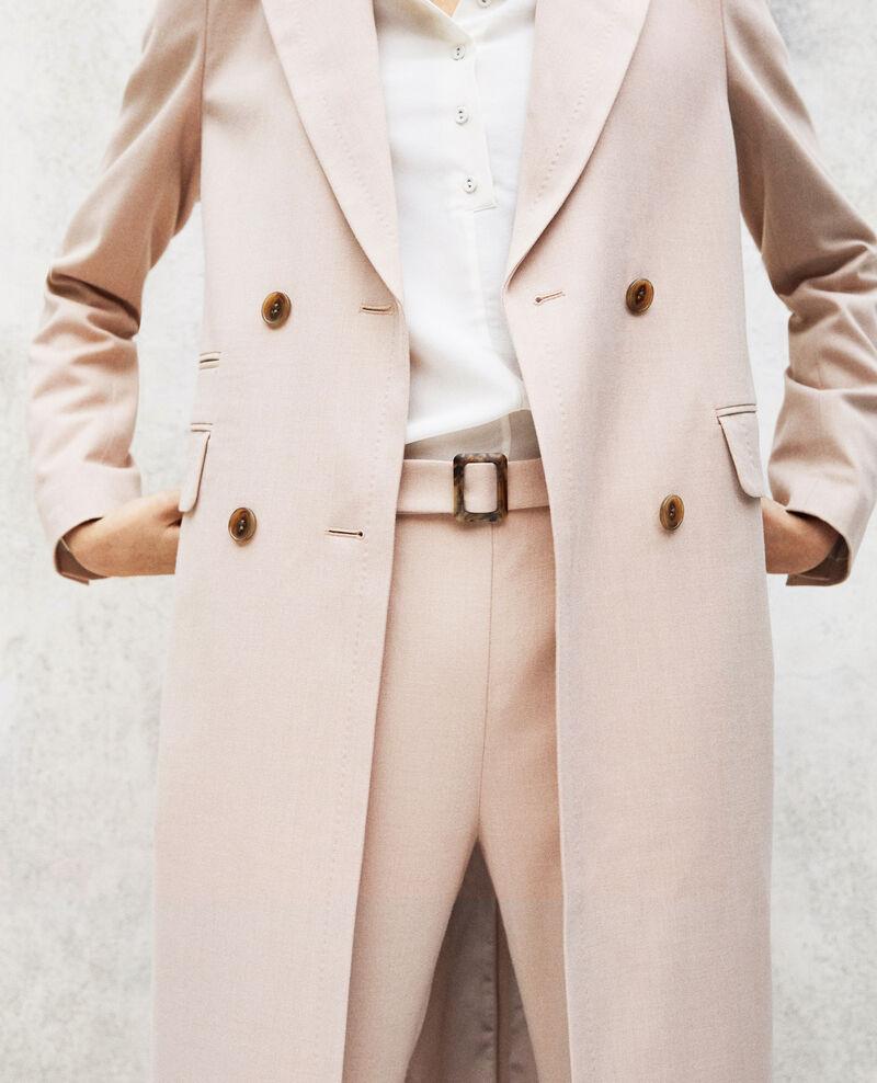 Manteau léger long Beige Illinois