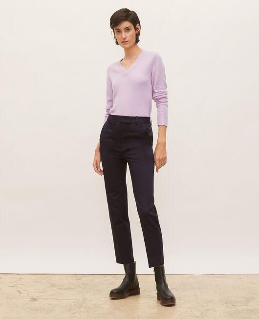 Pantalones chinos 7/8 tapered de algodón NIGHT SKY