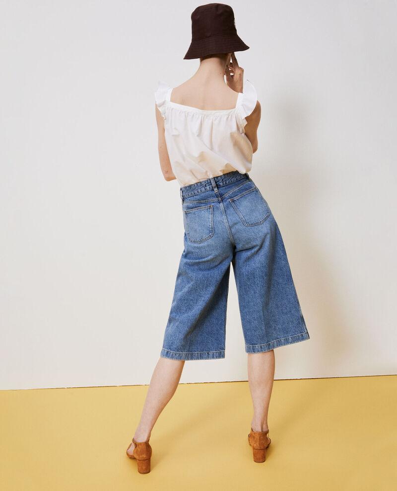 CULOTTE - Falda pantalón en denim Vintage wash Nayage