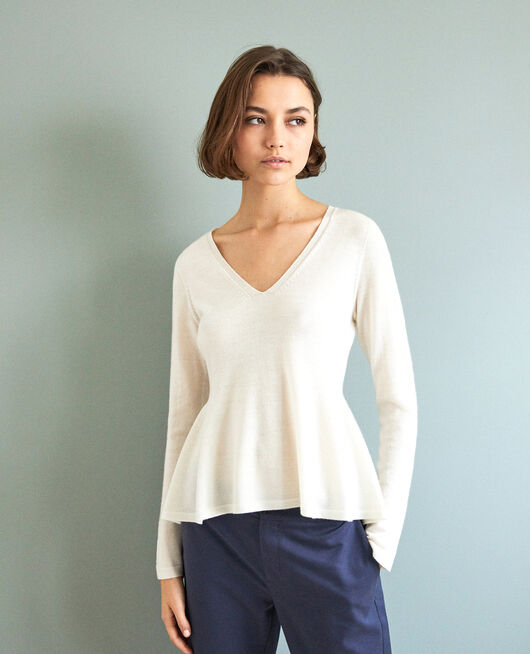 Jersey de lana  BLANC